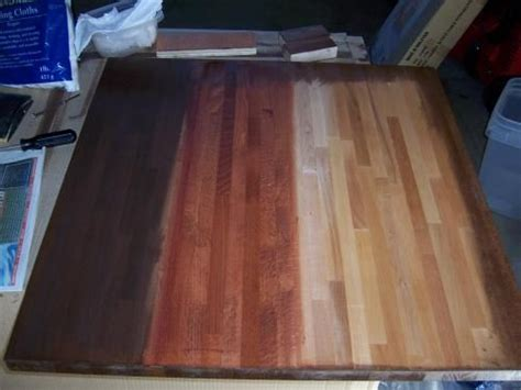 Staining Butcher Block Countertops by Ikea Butcher Block Table Stain Diy Ideas