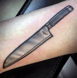 Chef Knife Tattoos Designs