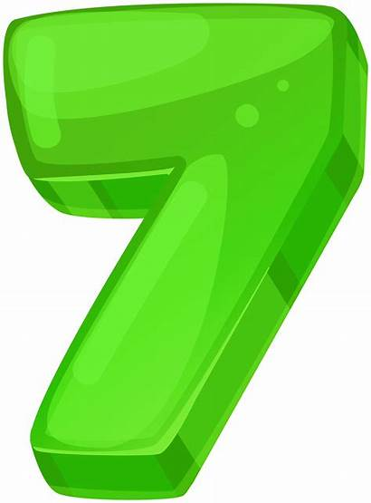Clipart Seven Numbers Transparent Yopriceville