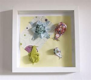 Cadre Chambre Enfant : cadre origami b b d coration chambre enfant animaux fleur escargot n nuphar vert mint bleu ~ Teatrodelosmanantiales.com Idées de Décoration