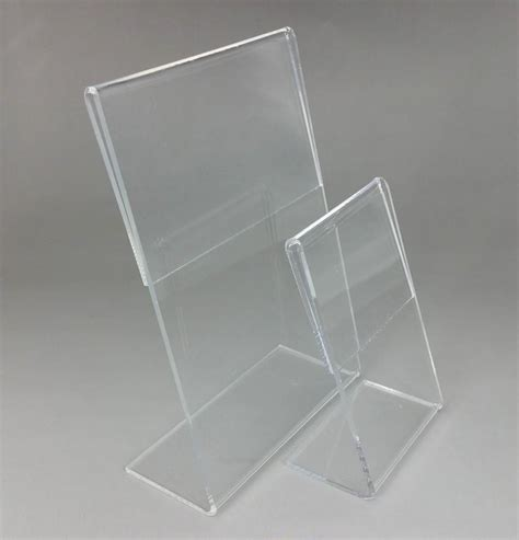 clear acrylic  plastic sign display paper promotion card table label holder  stand