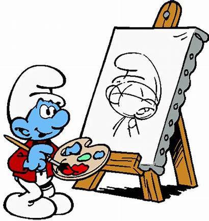 Smurfs Smurf Painter Os Smerfy Gifs Hadrianus