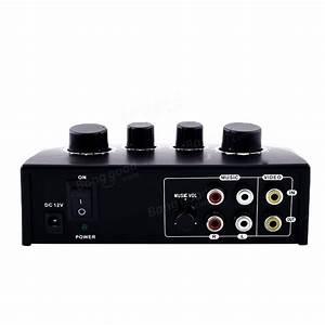 NKR N-3 Karaoke Echo Mixer Sound Audio Mixer Console PC TV ...