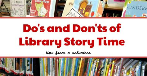 dos  donts  story time tips   volunteer