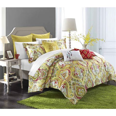 paisley comforter sets your zone boho paisley bedding comforter set purple