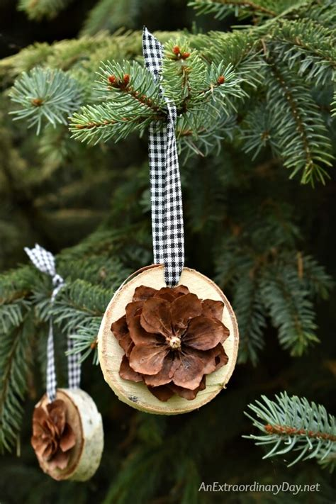 diy natural christmas tree decorations