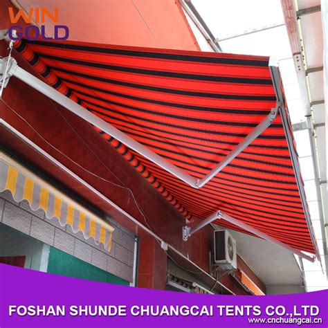 folding arm balcony awnings windproof aluminum awnings sale retractable awnings