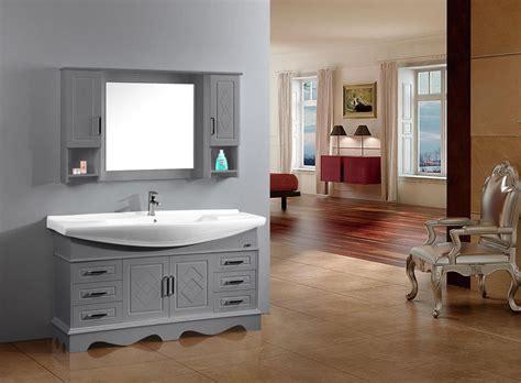 meuble vasque gris salle bain