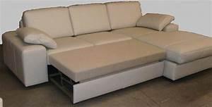 Canapé En Cuir Convertible : canap d 39 angle convertible avec chaise longue en cuir hoover ~ Teatrodelosmanantiales.com Idées de Décoration