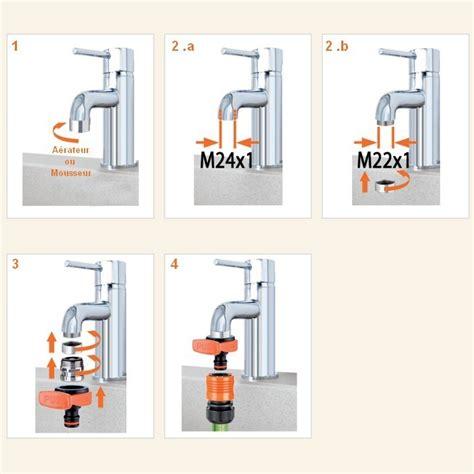raccord tuyau d arrosage et robinet de cuisine adaptateur mitigeur ou robinet pour raccord rapide arrosage plomberie