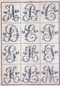 sajou346p3jpg monogram alphabet stitching pinterest With embroidery letter patterns