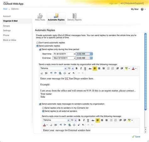 message absence bureau outlook out of office message outlook the out of office feature