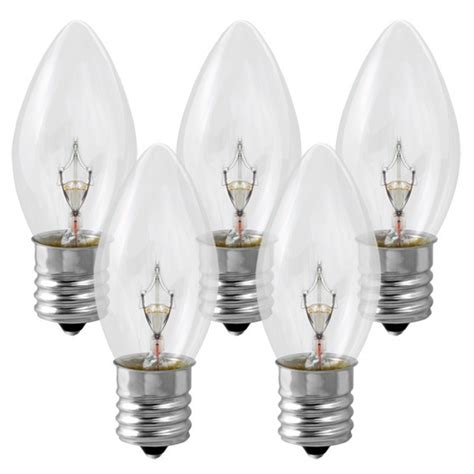 clear round bulb christmas lights c9 clear replacement bulb 7 watt 130 volt