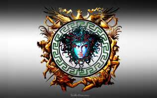 Gold Versace Medusa Logo