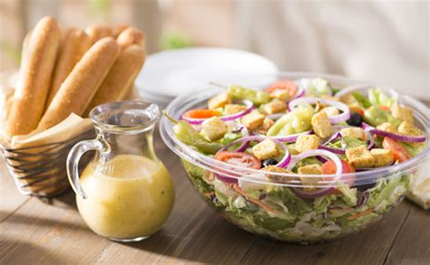 how many calories in olive garden breadstick our jumbo house salad with 12 breadsticks serves 6