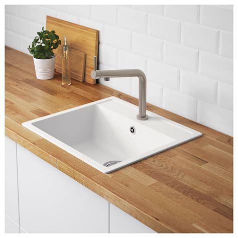 kitchen sink term h 196 llviken inset sink 1 bowl white quartz composite 56x50 2936