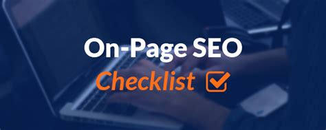 on page seo on page seo checklist 14 ways to optimize your posts