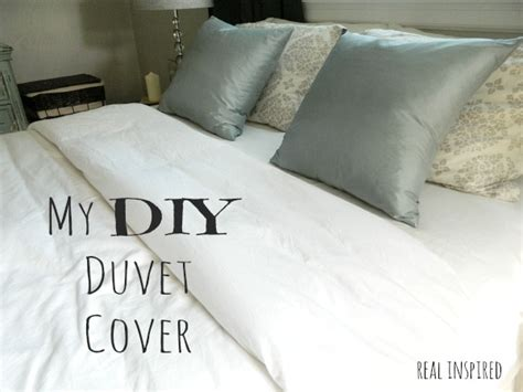 how to make a duvet cover real inspired my diy duvet cover