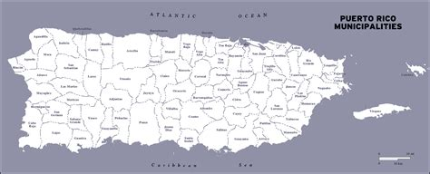 large detailed administrative map  puerto rico puerto