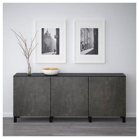 Ikea Besta Canada by Storage Combination With Doors Best 197 Black Brown Kallviken