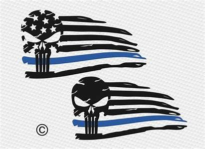 Flag Svg American Silhouette Cricut Skull Line