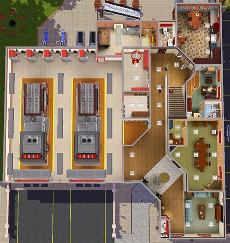 bureau plan mod the sims sunset valley department