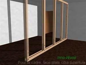 demo de construction d39une cloison en profiles bois youtube With panneau de separation interieur