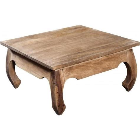 table carree en bois table basse carr 233 e en bois naturel kabaena achat vente