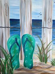 Easy Beach Canvas Painting Ideas