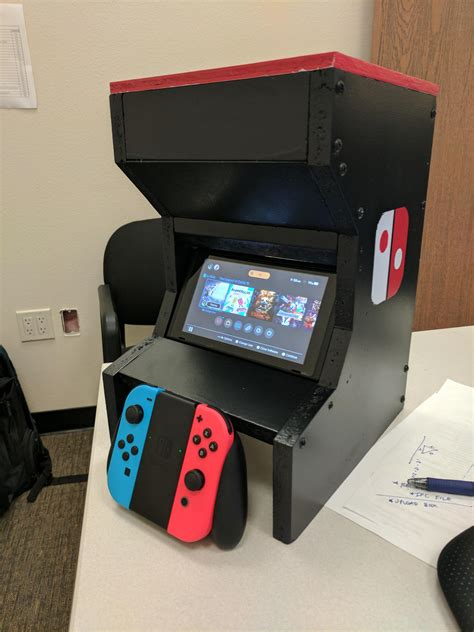 diy arcade cabinet reddit my switch arcade cabinet nintendoswitch