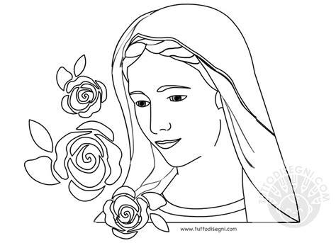 disegni madonna con bambino da colorare maggio mese dedicato alla madonna tuttodisegni