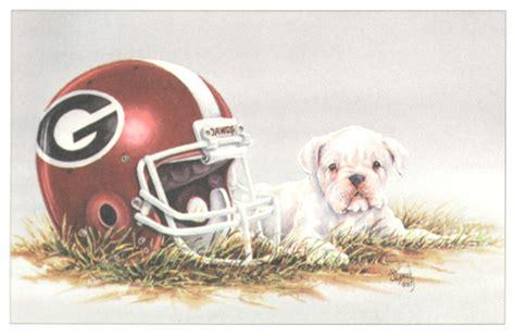University Of Georgia Bulldog Football Gear Mascot Art Poster