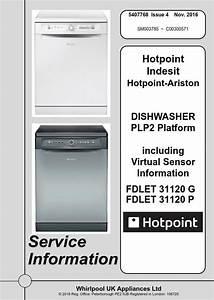 Hotpoint Fdlet 31120 G 31120 P Dishwasher Service Manu
