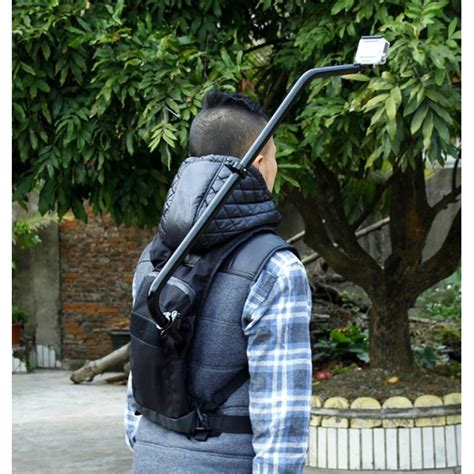 support selfie bagpack cordura pour gopro