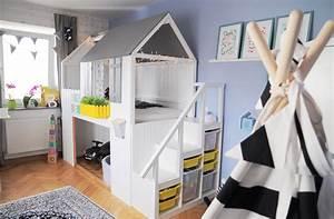 Hausbett Kinder Selber Bauen : hausbett aus ikea kura selber bauen mit dach pinkpersianunicorn 3 limmaland blog ~ Markanthonyermac.com Haus und Dekorationen