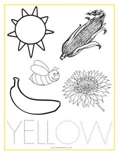 learning colors worksheets  preschoolers color yellow