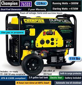 2019 Reviews  U2014 Best Dual Fuel Portable Generator