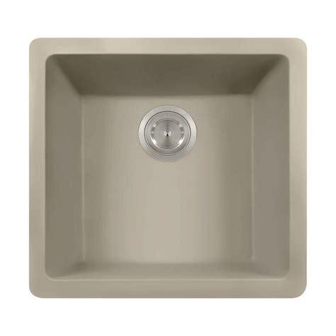 slate kitchen sink polaris sinks undermount granite 18 in single bowl 2306