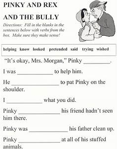 Seneca CCSD #170 - Pinky and Rex and the Bully worksheets