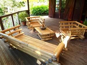 Salon De Jardin Bambou : salon de jardin en bambou id es de d coration int rieure ~ Teatrodelosmanantiales.com Idées de Décoration