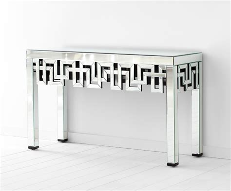 long mirrored console table psara mirrored console table by cyan design