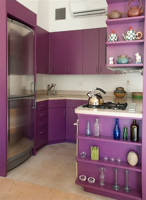 purple  grey kitchen decor defines royalty home