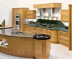 la cuisine arrondie dans 41 photos pleines d39idees With plan de cuisine en bois