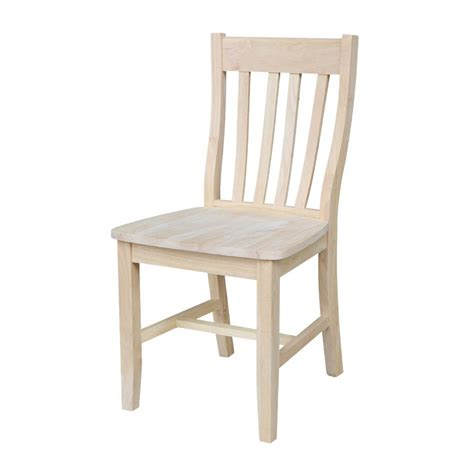 unfinished dining chair  set kitchen sturdy furniture