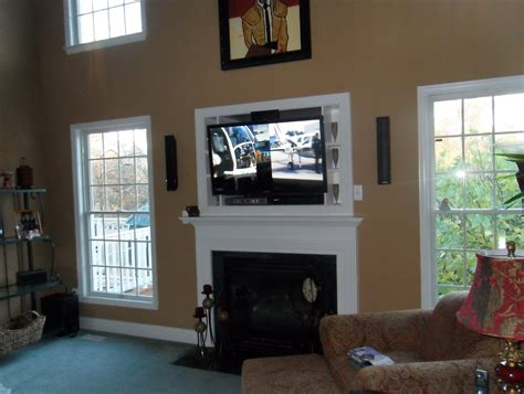 Mount Tv Above Fireplace Cable Box Home Design Ideas
