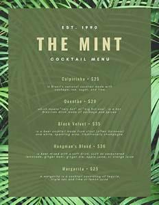 Customize 124  Cocktail Menu Templates Online