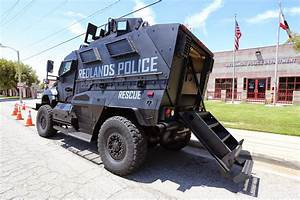 watershed news: city of redlands pd's new mrap