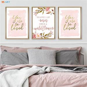 Blush Gold Wate... Nursery Canvas Quotes