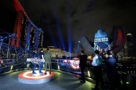 marina bay sands lights up for captain america latest