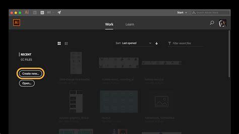How To Create A New Document In Illustrator  Adobe Illustrator Cc Tutorials